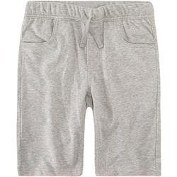 Little Boys Heathered Knit Pull On Shorts