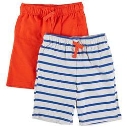 Little Boys 2-pk. Solid & Stripe Short Set