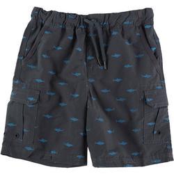 Little Boys Shark Cargo Shorts
