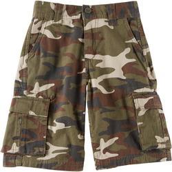 Big Boys Camo Twill Cargo Shorts