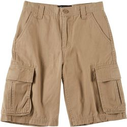 Bailey's Point Big Boys Solid Twill Cargo Shorts