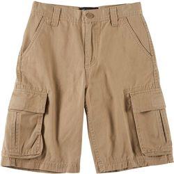 Big Boys Solid Twill Cargo Shorts