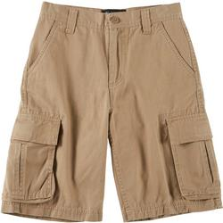 Big Boys Solid Twill Cargo Shorts