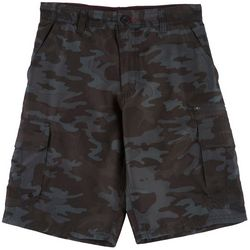 Burnside Big Boys Camo Print Traveler Cargo Shorts