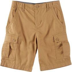 Big Boys Solid Cargo Shorts