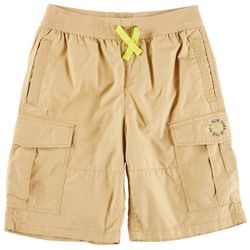DKNY Big Boys Poplin Pull-On Cargo Shorts