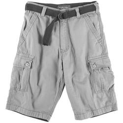 Big Boys Solid Ripstop Belted Cargo Shorts