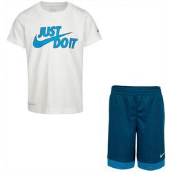 Nike Little Boys Dri-FIT  Graphic Just Do It Shorts Set