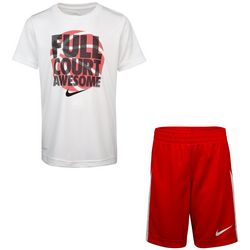 Little Boys Dri-FIT Basketball Full Court Shorts Set