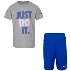 Little Boys Just Do It Tee & Solid  Shorts Set