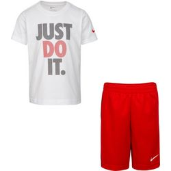 Nike Little Boys Just Do It Tee & Solid  Shorts Set