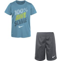 Nike Little Boys Dri-FIT Awesome Shorts Set
