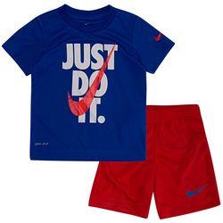 Little Boys Dri-FIT Just Do It Shorts Set