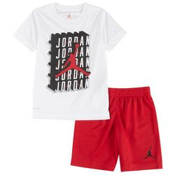 Little Boys Crosswords Tee & Shorts Set