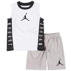 Little Boys Muscle Tank & Shorts Set