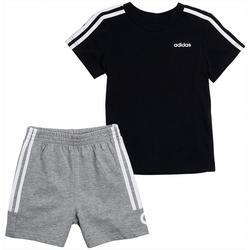 Little Boys 2-pc. Cotton Logo T-shirt & Shorts Set