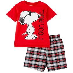 Peanuts Snoopy Little Boys Joe Cool Shorts Set