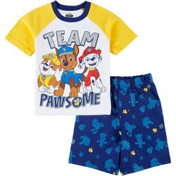 Nickelodeon Paw Patrol Little Boys Team Pawsome Shorts Set