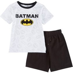 Little Boys Batman Logo Shorts Set