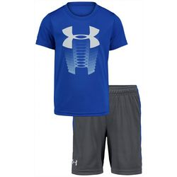 Little Boys 2-pc. Rising Logo Shorts Set