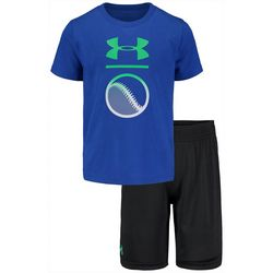 Under Armour Little Boys 2-pc. Baseball Tee & Shorts Set