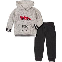 Kids Headquarters Little Boys Back Seat Driver Hoodie Set
