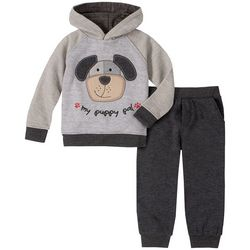 Little Boys Puppy Fleece Hoodie Set