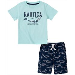 Nautica Little Boys Whale Short Set