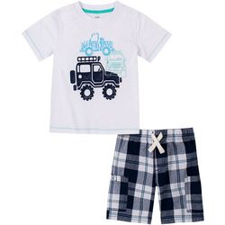 Kids Headquarters Little Boys 2-pc. Truck Short Set
