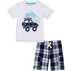 Little Boys 2-pc. Truck Short Set