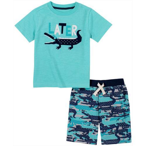 Kids Headquarters 2-pc Little Boys Graphic-Print T-Shirt and Shorts Set 4T//4