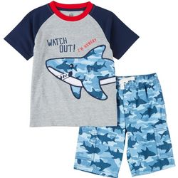 Little Boys 2-pc. Shark Short Set