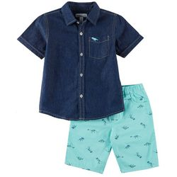 Kids Headquarters Little Boys 2-pc. Dino Shorts Set
