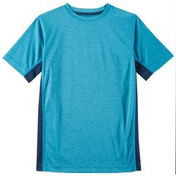Big Boys Heathered Mesh Panel T-Shirt