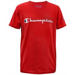 Champion Big Boys Logo Print Short Sleeve T-Shirt