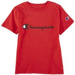 Champion Big Boys Classic Script Short Sleeve T-Shirt