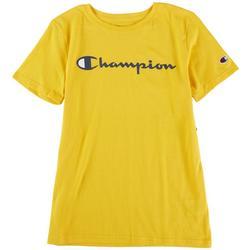 Big Boys Classic Script Logo Short Sleeve T-Shirt