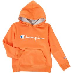 Champion Big Boys Solid French Terry Contrast Hoodie