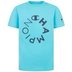 Big Boys Circle Crest Logo Short Sleeve T-Shirt