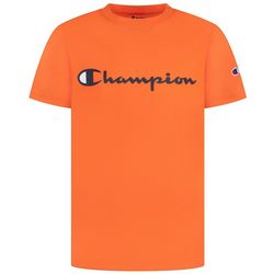 Champion Big Boys Classic Script Logo Short Sleeve T-Shirt