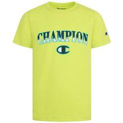 Champion Big Boys Brush Fill Logo Short Sleeve T-Shirt