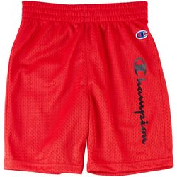 Champion Little Boys Logo Mesh Shorts