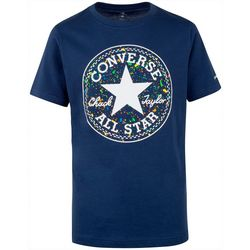 Converse Big Boys Short Sleeve Splatter Logo Print Tee