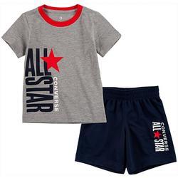 Little Boys Logo Tee & Shorts Set