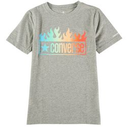 Converse Big Boys Flames Gradient Short Sleeve T-Shirt
