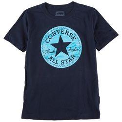 Converse Big Boys Camo Chuck Logo Patch Short Sleeve T-Shirt