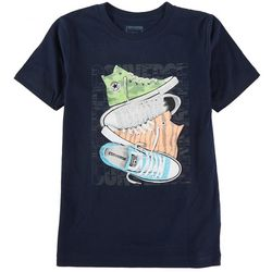 Converse Big Boys Stack Sneakers Short Sleeve T-Shirt