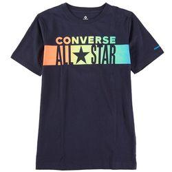 Converse Big Boys Gradient Stripe Short Sleeve T-Shirt