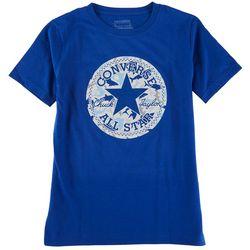 Converse Big Boys Shark Chuck Logo Short Sleeve T-Shirt