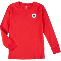 Converse Big Boys Solid Long Sleeve T-Shirt
